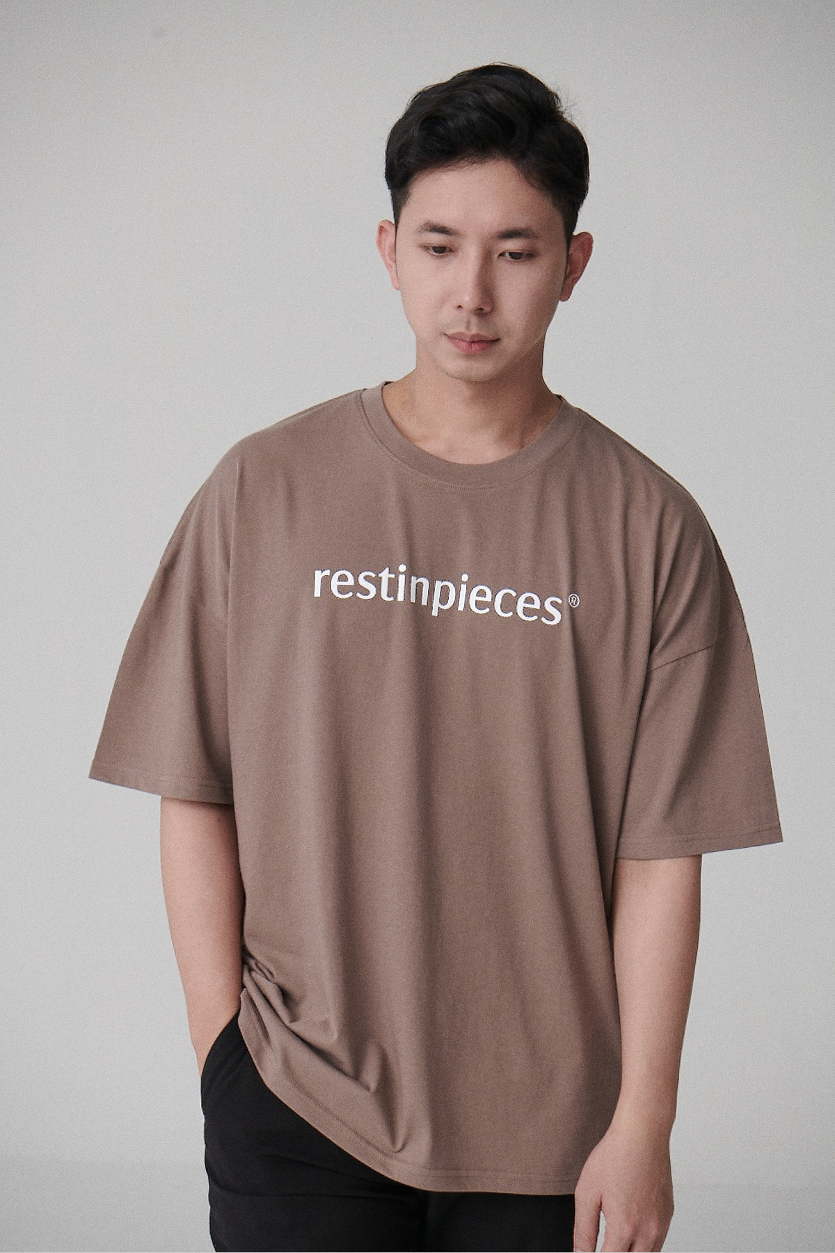silket logo tee [BROWN]
