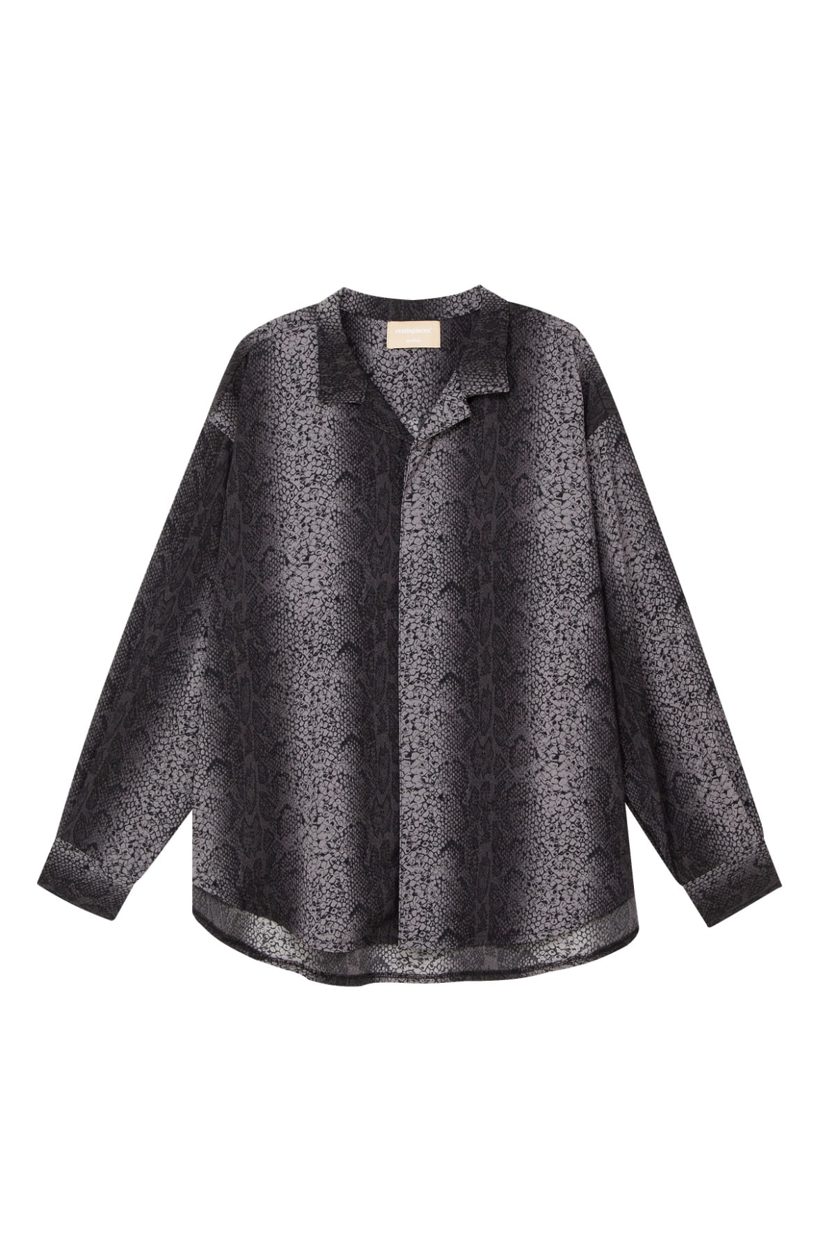 python patterned long sleeve shirt